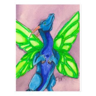 Blue Fairy Dragon Post Card