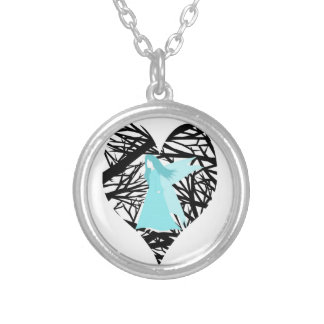 Blue Fairy Forest fantasy Round Pendant Necklace