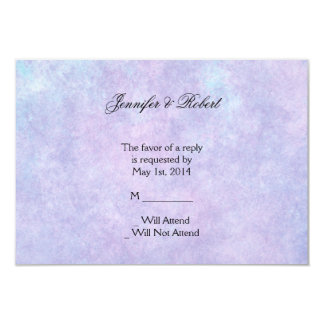 "Blue Fairy on Purple Watercolor Response Card 3.5"" X 5"" Invitation Card"