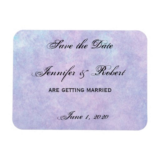 Blue Fairy on Purple Watercolor Save the Date Rectangle Magnet