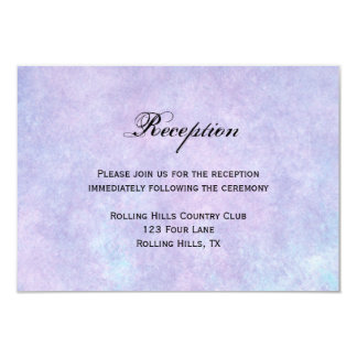 Blue Fairy on Purple Watercolor Wedding Reception Custom Invitation