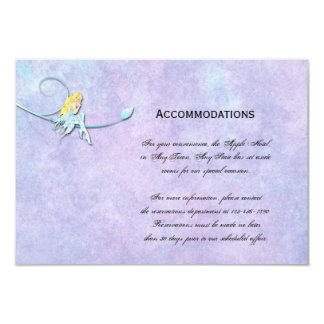 Blue Fairy on Purple Wedding Accomodations Personalized Invitation