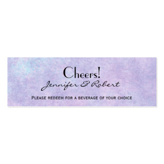 Blue Fairy on Purple Wedding Drink Ticket Business Cards