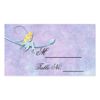 Blue Fairy on Purple Wedding Place Card Business Card Template