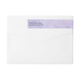 Blue Fairy on Purple Wedding Wrap Around Label Wraparound Return Address Label