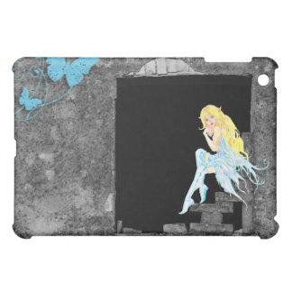 Blue Fairy Sitting on a Rock Wall iPad iPad Mini Cases