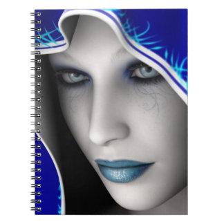 Blue fairy spiral notebook