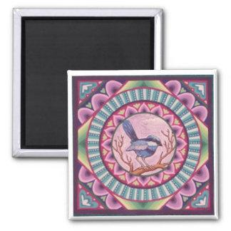 Blue Fairy Wren magnet by Soozie Wray