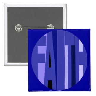 Blue Faith Button