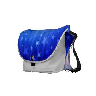 Blue falling star messenger bag