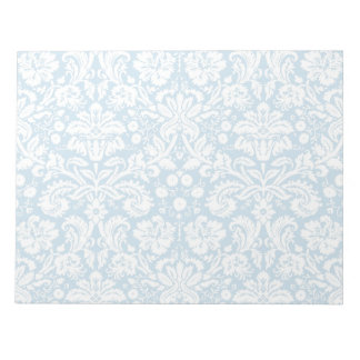 Blue fancy damask pattern notepad
