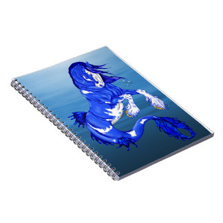 Blue Fantasy Clydesdale Seahorse Note Book
