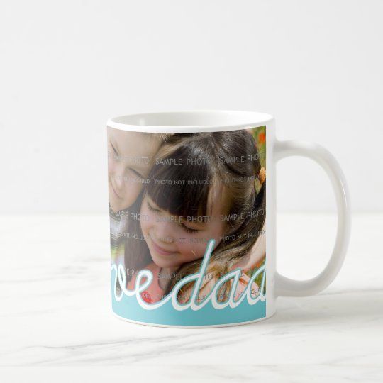 Blue Father's Day Personalised Mugs with Photo