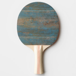 Blue Faux Beach Wood Texture Ping Pong Paddle