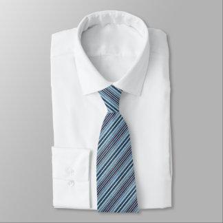 Blue Faux Denin Striped Tie