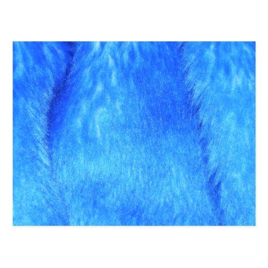 Blue Faux Fur Postcard