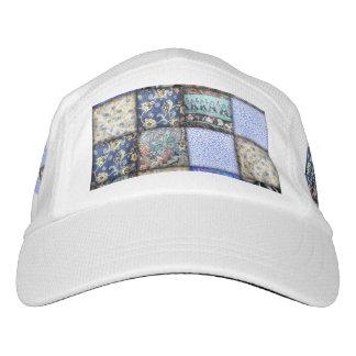 Blue Faux Patchwork Quilting Pattern Hat