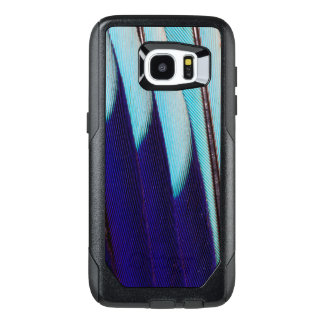 Blue Feather Design Abstract OtterBox Samsung Galaxy S7 Edge Case