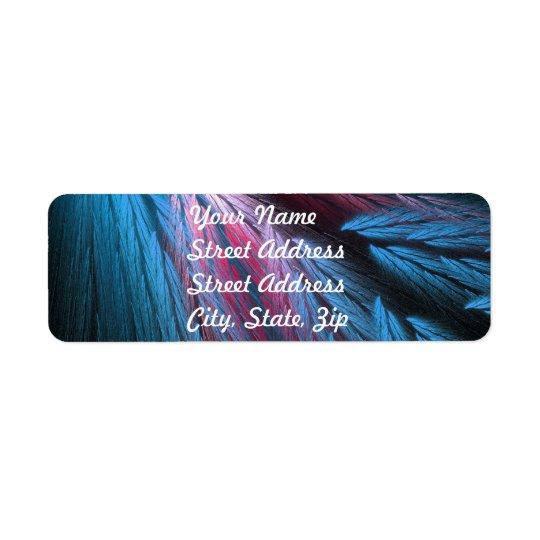 Blue Feather Return Address Sticker