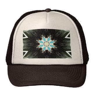 blue feather star-burst cap