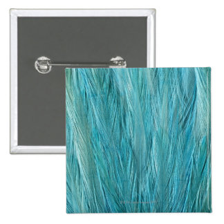 Blue Feathers 15 Cm Square Badge