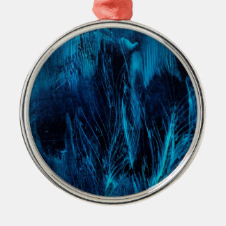 Blue Feathers Ornament