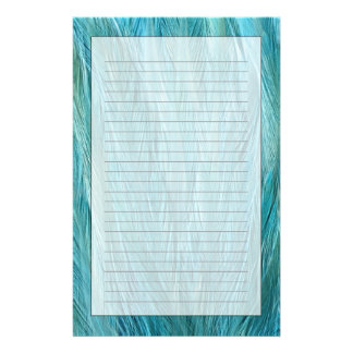 Blue Feathers Stationery