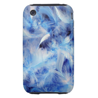 Blue Feathers Tough iPhone 3 Covers