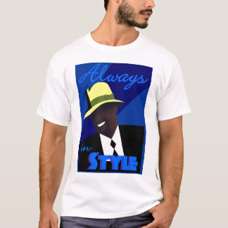 "Blue ""FEDORA"" T-Shirt"