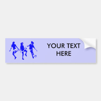 Blue Female Soccer Skills Bumper Stickers