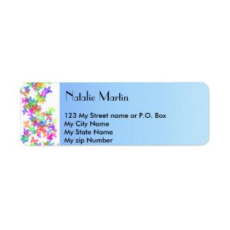 Blue femenine Label,