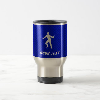 Blue Fencing Travel Mug