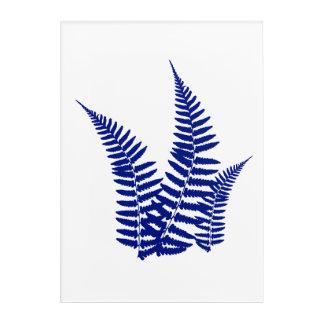 Blue Fern Bush Print Acrylic Print