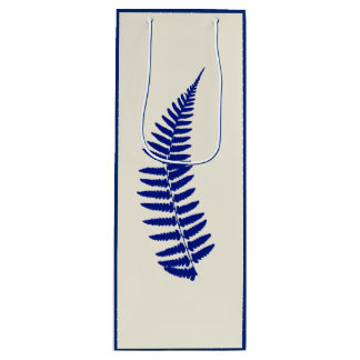 Blue Fern Wine Gift Bag