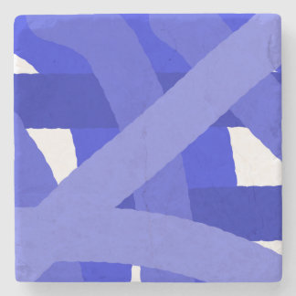 Blue Fest Abstract Stone Coaster