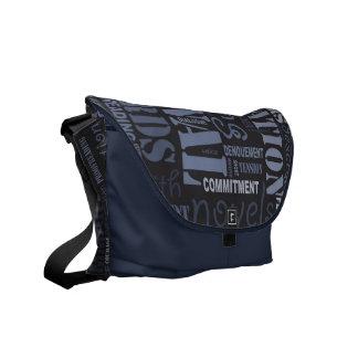 Blue Fiction Writer's Word Art Messenger Bag