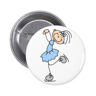 Blue Figure Skater Button