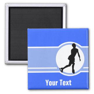 Blue Figure Skating Square Magnet