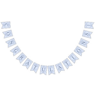 "Blue Filagree Wedding ""Congratulations!"" Bunting"