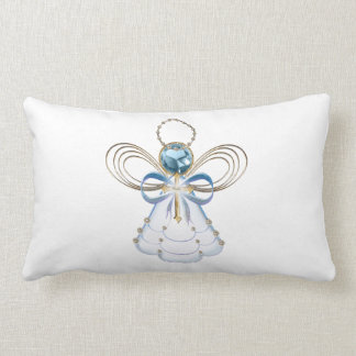 Blue Filigree Christmas Angel of Faith Pillows