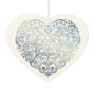 Blue Filigree Heart Air Freshener