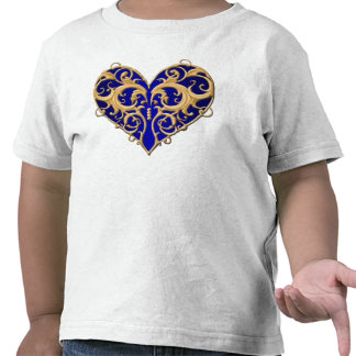 Blue Filigree Heart Shirt