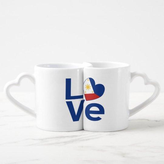 Blue Filipino LOVE Coffee Mug Set