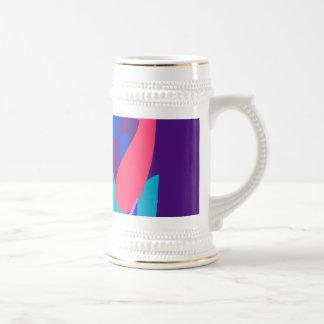 Blue Fire Deep Purple Coffee Mugs