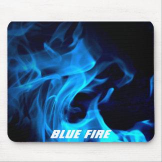 Blue Fire Mouse Mat