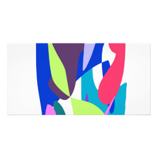Blue Fire Photo Greeting Card