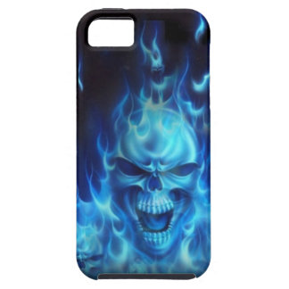 Blue Fire Skull Tough iPhone 5 Case