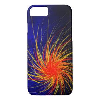 Blue Fire Spiral - Apple iPhone Case