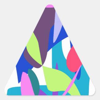 Blue Fire Triangle Sticker