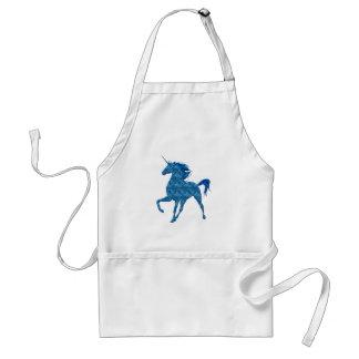 Blue Fire Unicorn Apron